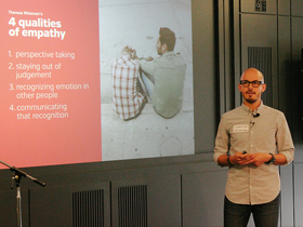 Empathy reloaded: Interaction Designer Antonio Garcia at 45th CreativeMornings in Chicago