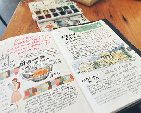 Exploring through Urban Journaling: Stationery Enthusiast April Wu