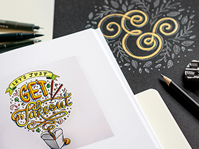 Graphic Designer Belinda Kou Works Practices Her Hand-Lettering Craft