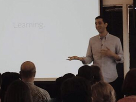 The Experience Institute's Victor Saad at Chicago CreativeMornings #30