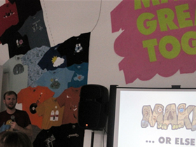 """Make or else"": Chicago CreativeMornings with Jake Nickell of Threadless"