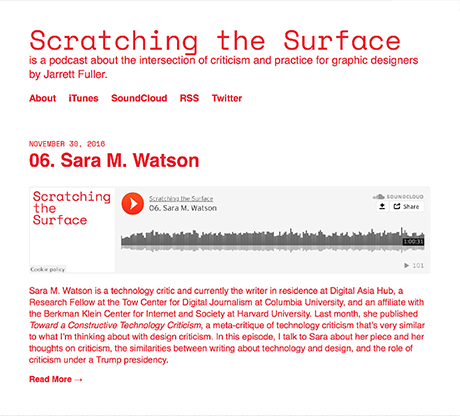 Jarrett Fuller's Podcast about the Intersection of Criticism and Practice for Graphic Designers