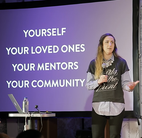 Connecting and Reconnecting: Letterer Jenna Blazevich at 49th monthly CreativeMornings in Chicago