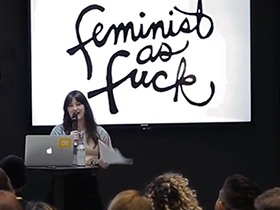 At the 63rd CreativeMornings in Chicago, Leah Ball Creates Art with Unabashed Sensuality