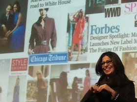 Fashion Designer Maria Pinto at 37th CreativeMornings in Chicago