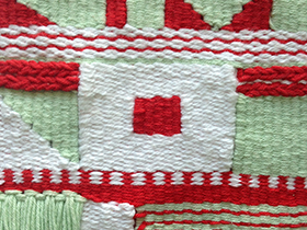 Melanie Richards' honoring of creative women, a pattern library, weaving and more
