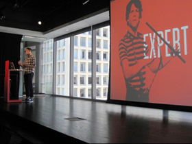 Designer Mig Reyes on Being Backwards at CreativeMornings #18 in Chicago