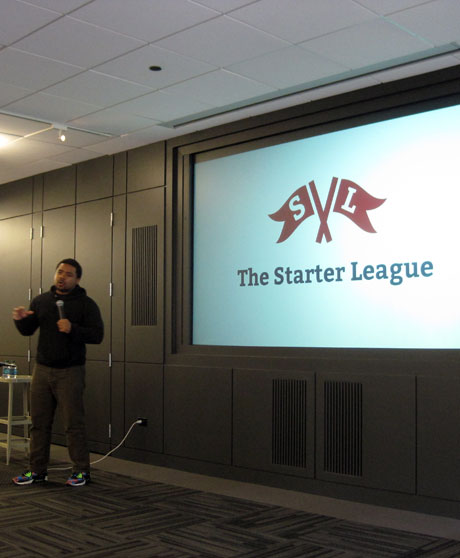 The Starter League's Neal Sales-Griffin at 34th CreativeMornings, Chicago