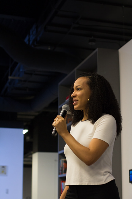 Politics as usual: Artist Rashayla Marie Brown at 46th monthly CreativeMornings in Chicago