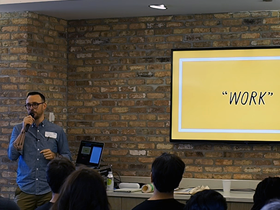 Becoming a Working Artist: Ryan Duggan at 56th monthly CreativeMornings in Chicago