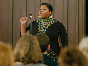 Artist Vanessa German's gift of love at Pittsburgh CreativeMornings #12