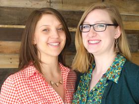 Designer Hannah Rebernick and Writer Cara Narkun of Zealous Bee